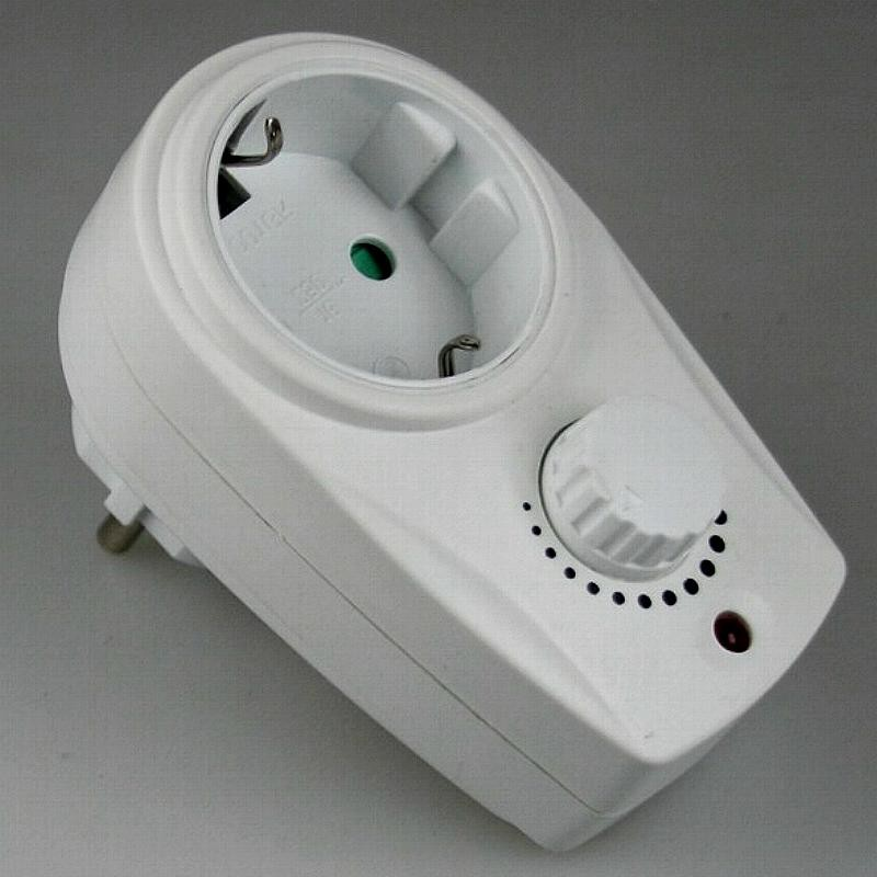 steckdosen dimmer 20 bis 280 watt steckdose dimmen stecker. Black Bedroom Furniture Sets. Home Design Ideas