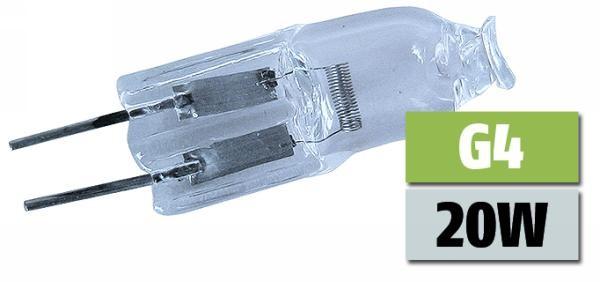 halogen stiftsockellampe lampe leuchte 12v 20w sockel g4 halogenlampe ebay. Black Bedroom Furniture Sets. Home Design Ideas