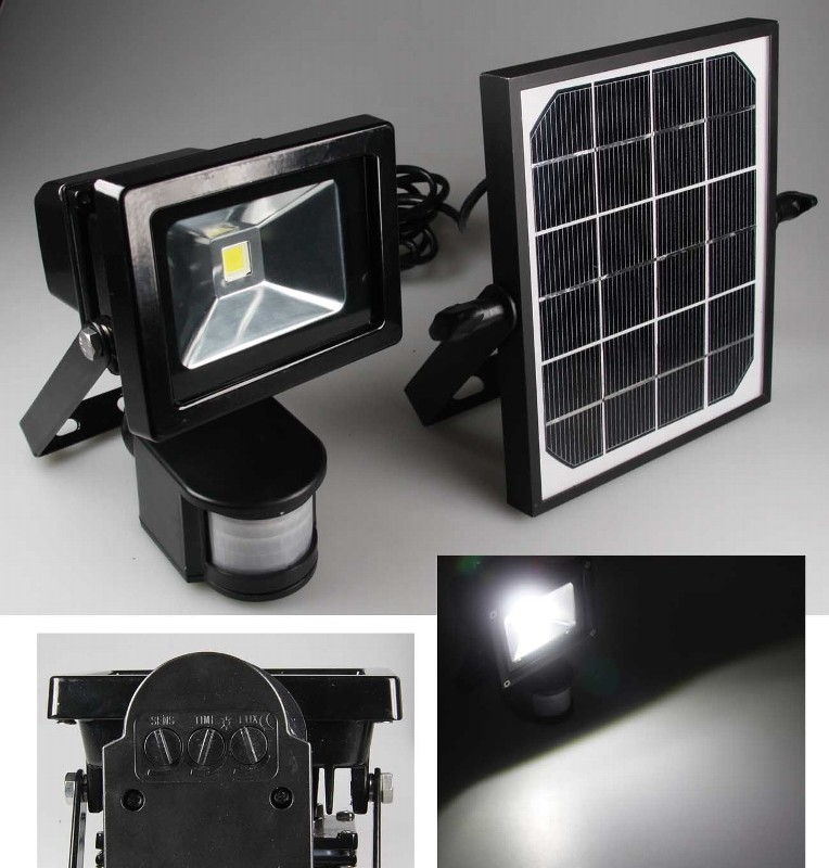 10w 1000 lumen 4200k 3w solarstrahler led leuchte lampe. Black Bedroom Furniture Sets. Home Design Ideas