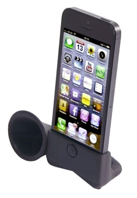 iphone lautsprecher sound dock f r apple iphone 5 5s schwarz ebay. Black Bedroom Furniture Sets. Home Design Ideas