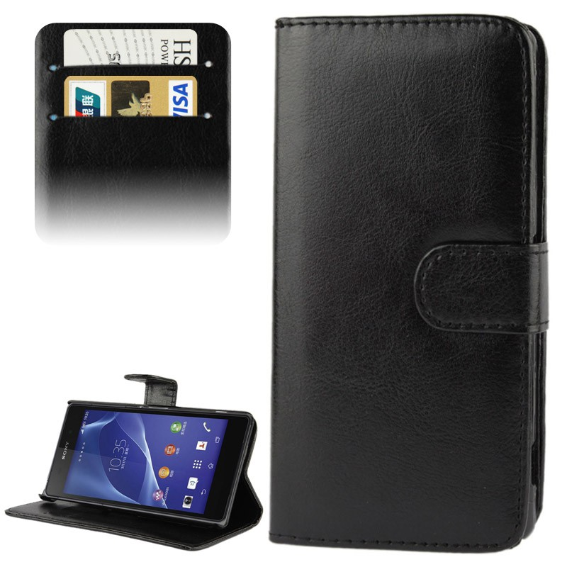 handyh lle tasche flip quer kreditkarten fach f r handy sony xperia z2 l50w neu ebay. Black Bedroom Furniture Sets. Home Design Ideas